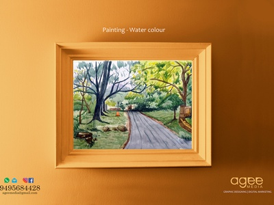 Painting - Water colour on paper landscapes water colour painting