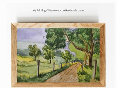 My painting - Water colour on handmade paper