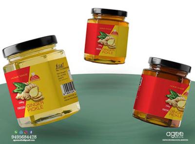 Pickle bottle sticker design branding sticker design graphic design