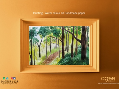 Painting - Water colour on Handmade paper water colour painting