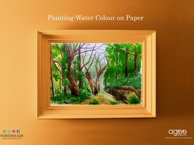 Painting Water colour on Handmade paper water colour painting