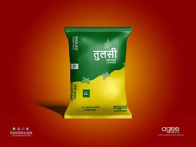 Rice Bag Design graphic design branding package design