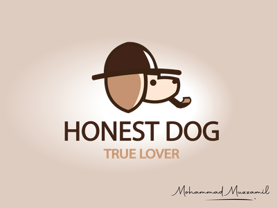 Honest Dog logo illustration