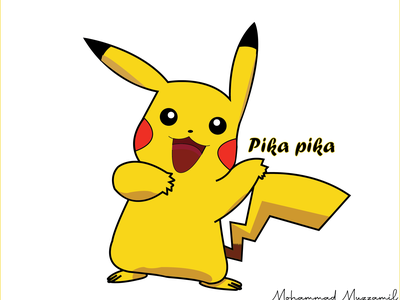 pikachu  Recovered  2 vectorart design illustration