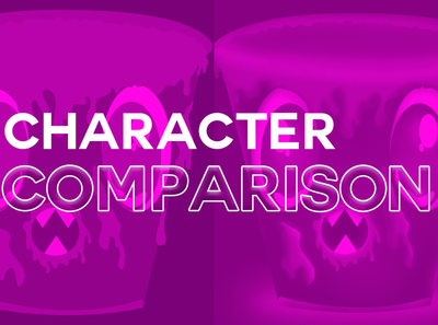 comparison character design character vector design illustration