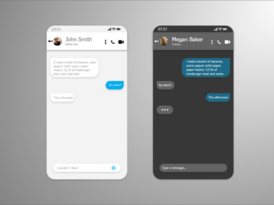 Daily UI #013 - Direct Messaging direct messaging message app messages message app ux ui design dailyuichallenge daily ui dailyui daily 100 challenge daily