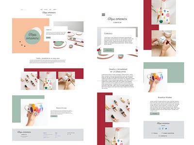 A Ceramic web minimal front-end web ui design