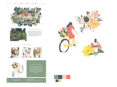 flower drible2 01 illustration minimal front-end webdesign flowers
