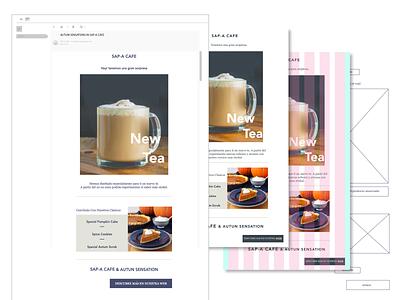 Coffee Shop Newsletter newsletter design minimal web front-end