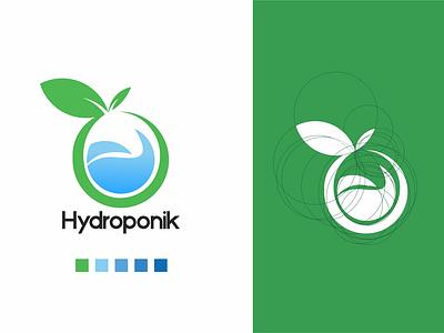 Hydroponik Logo Concept minimal graphic design art design logo icon branding