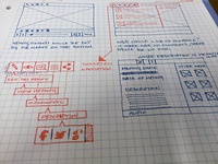 Wireframe for a content player I'm working