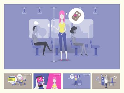 Multichanel Activation Plan animation flat vector illustration design
