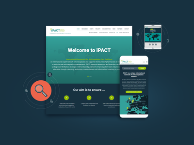 iPact website flat vector animation web ui design