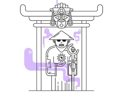 Uhane linework lineart digital illustration vector illustrator illustration art illustration flat