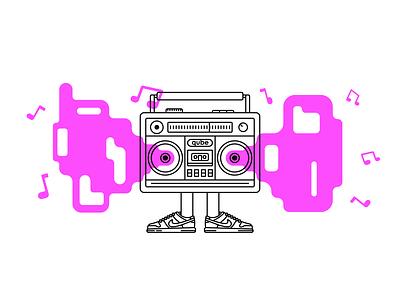 Radio radio inktober2020 inktober linework lineart digital illustration vector illustrator illustration art illustration flat
