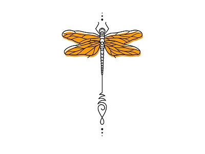 Dragonfly tattoo design dragonfly linework lineart digital illustration vector illustrator illustration art illustration flat