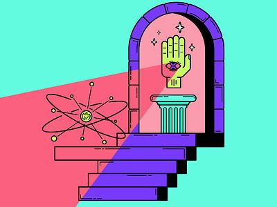 The art of creation multicolor color multidimensional lineart linework digital illustration vector illustrator illustration art illustration flat