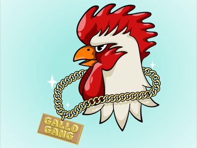 Gallo Gang Rooster rooster digital illustration vector illustrator illustration art illustration flat