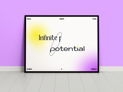 Infinite potential posterdesign poster design poster minimalist minimal branding graphic design design lineart digital illustration illustrator flat
