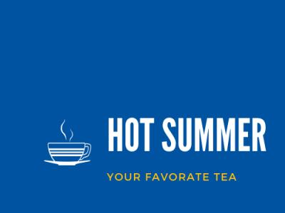 Hot Summer - A Tea Brand Demo Logo design branding logo logo design logodesign