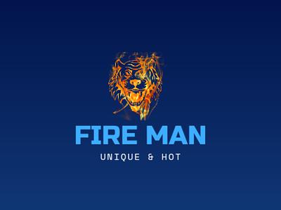 Fire Man - A Demo Logo Design design logo logo design logodesign