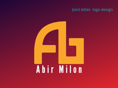 A-B Joint Letter Logo Design letter logo letter logo design logo designer logo template icon logo icon design logo design
