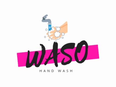 Waso - Hand Wash item logo design icondesign logodesign design brand logo brand design logo design