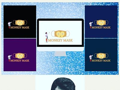 Sample Logo Design - Monkey Mask logoinspiration photoshop logomaker graphic illustrator marketing illustration logotype brand logos logodesigns graphicdesigner logodesign designer art logodesigner branding graphicdesign design logo