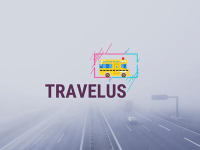 Travel Bus - Simple minimalist logo design logomaker creative graphic illustrator marketing illustration logotype brand logos logodesigns graphicdesigner logodesign designer art logodesigner branding graphicdesign design logo
