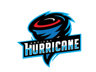 hurricane branding logo design illustration