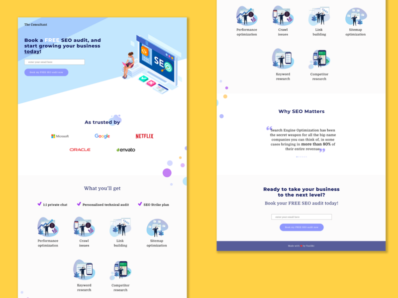 DailyUI Challenge: Landing Page leadgen minimal dailyui design dailyuichallenge ui landing page landing page design landingpage