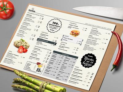 Pelmen typography menu design design