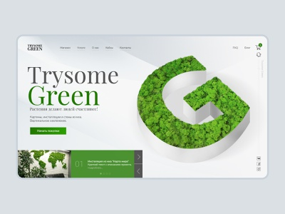 Trysome green ux web ui design