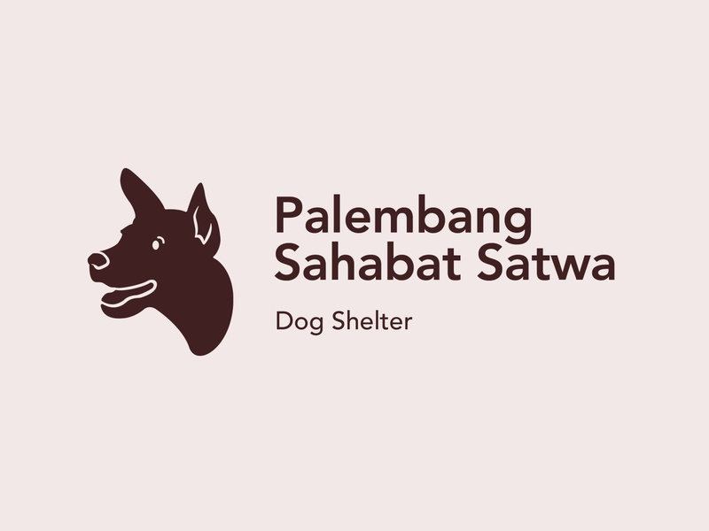 Palembang Sahabat Satwa, Dog Shelter adoption indonesia dog shelter typography business card postcard design sticker design pin design branding logodesign packaging design illustration graphic design