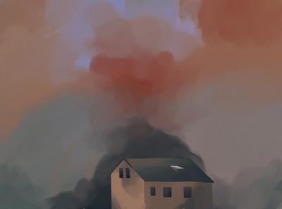 Sunset Dream designer sunset commission art design illustration