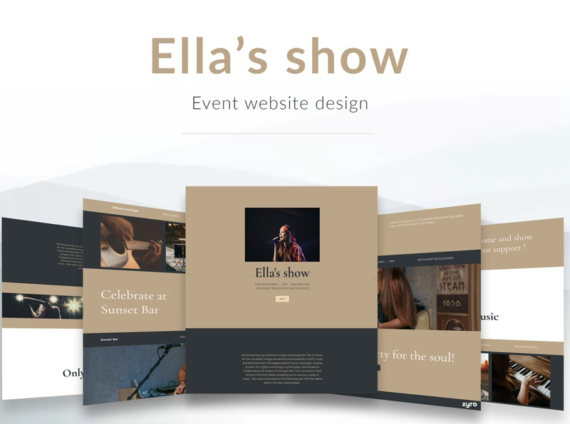 Event Website Design presentation mockup layout brown events website web typography website design landing pages branding branding design landing page uidesigns designer business event branding ui ux design event