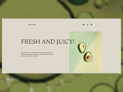 Food Store Website Design one page website blog design blog food websites one page website design green minimalism minimalistic minimal eshop webdesign website ui ux landing page design business branding