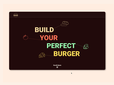 Day-11 - Order Burgers landing concept uiux food and drink order food icon design ui design ux product design ui 365 daily challenge