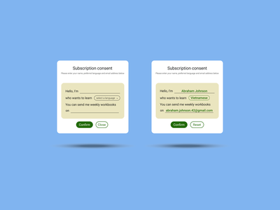 DailyUI Challenge 025 - Subscribe consent popup subscribe form subscription subscribe web design webdesign dailyui 026 dailyuichallenge daily 100 challenge ui design ui dailyui