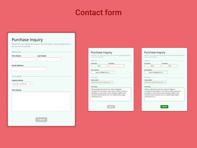 DailyUI Challenge 028 - Contact Us inquiry contact page contact form contact us website design web design webdesign dailyui 028 dailyuichallenge daily 100 challenge ui design ui dailyui