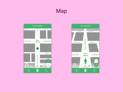 DailyUI Challenge 029 - Map 2d view 3d view location map mobile ui mobile design dailyui 029 dailyuichallenge daily 100 challenge ui design ui dailyui