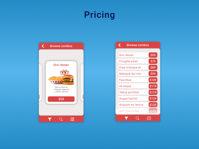 DailyUI Challenge 030 - Pricing mobile application mobile app design mobile app pricing card pricing list pricing page pricing mobile ui mobile design dailyui 030 dailyuichallenge daily 100 challenge ui design ui dailyui