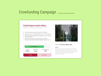 DailyUI Challenge 032 - Crowfunding Campaign crowdfunding campaign crowdfunding website design website design web design webdesign dailyui 032 dailyuichallenge daily 100 challenge ui design ui dailyui