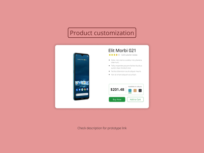 DailyUI Challenge 033 - Customize product website design customization customize product product page web design webdesign dailyui 033 dailyuichallenge daily 100 challenge ui design ui dailyui