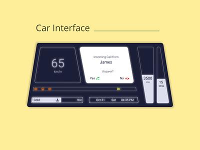 DailyUI Challenge 034 - Car Interface car display digital car dashboard car interface dailyui 034 dailyuichallenge daily 100 challenge ui design ui dailyui