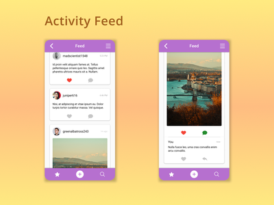 DailyUI Challenge 047 - Activity Feed activity feed mobile app android app mobile ui mobile design dailyui 047 dailyuichallenge daily 100 challenge ui design ui dailyui