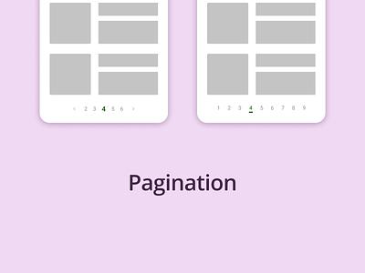 DailyUI Challenge 085 - Pagination webdesign pagination mobile ui mobile design web design ui design ui dailyui 085 dailyuichallenge daily 100 challenge dailyui