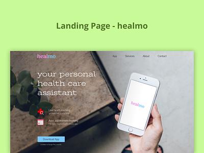 Landing Page - healmo landingpage landing page ui landing page design website website design web design webdesign ui design ui