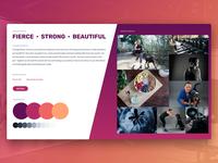 Fitness website mood board design web design moodboards moodboard