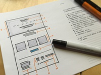 Home Page Wireframe Sketch